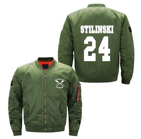 2018 NEW BEACON HILLS LACROSSE Spring hot Men Jacket Stiles Stilinski Teen 24 print coat mens baseball uniform USA size