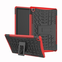 Hybrid Armor Tablet Case for Huawei MediaPad M5 10 Kickstand Hard Back Cover with Flexible TPU Plastic Silicone Skin Jelly
