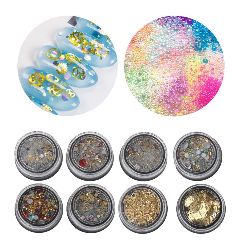 Bubble Beads Wheel Gear Ultra Thin Metal Frame Filling Nail Diy Uv Resin Jewelry Latest Technology Jewelry Tools & Equipments