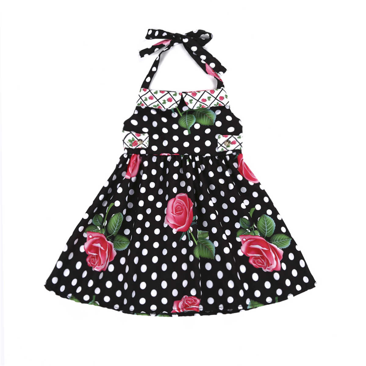 Girl Dress Princess Costume 2018 Brand Sleeveless summer Dresses Kids Clothes Rose Flower Children Dress