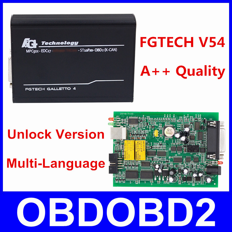 Best качество FG Технология V54 Авто ЭКЮ чип Тюнинг программист FGTech Galletto 4 V54 мастер OBD нескольких языков бесплатная доставка
