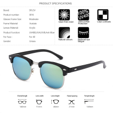 Unisex High-Quality Acrylic Fashion Sunglasses