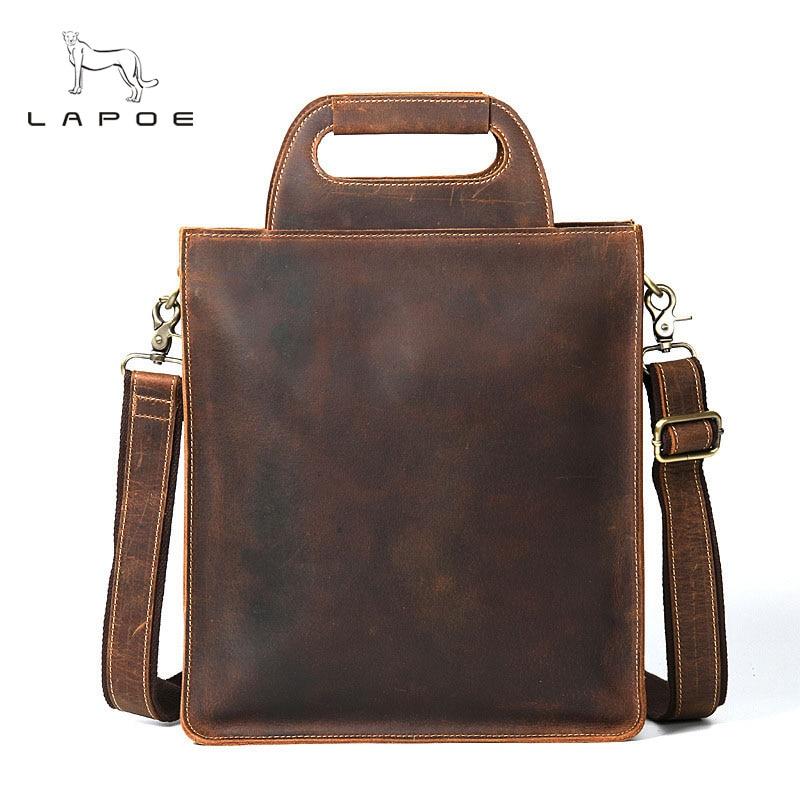 2018 New Vintage Men's Messenger Bags Genuine Leather Shoulder Bags For Men Crossbody Bag Design Business Casual Male Handbags цена