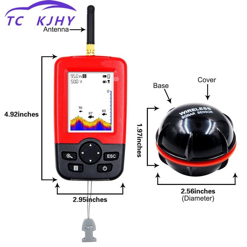 Détecteur de poisson détecteur de poisson détecteur de poisson détecteur de profondeur de bateau LCD