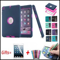 Armor Shockproof Cover For IPad Mini Case 3 In 1 Hard Cover For Ipad Mini 2
