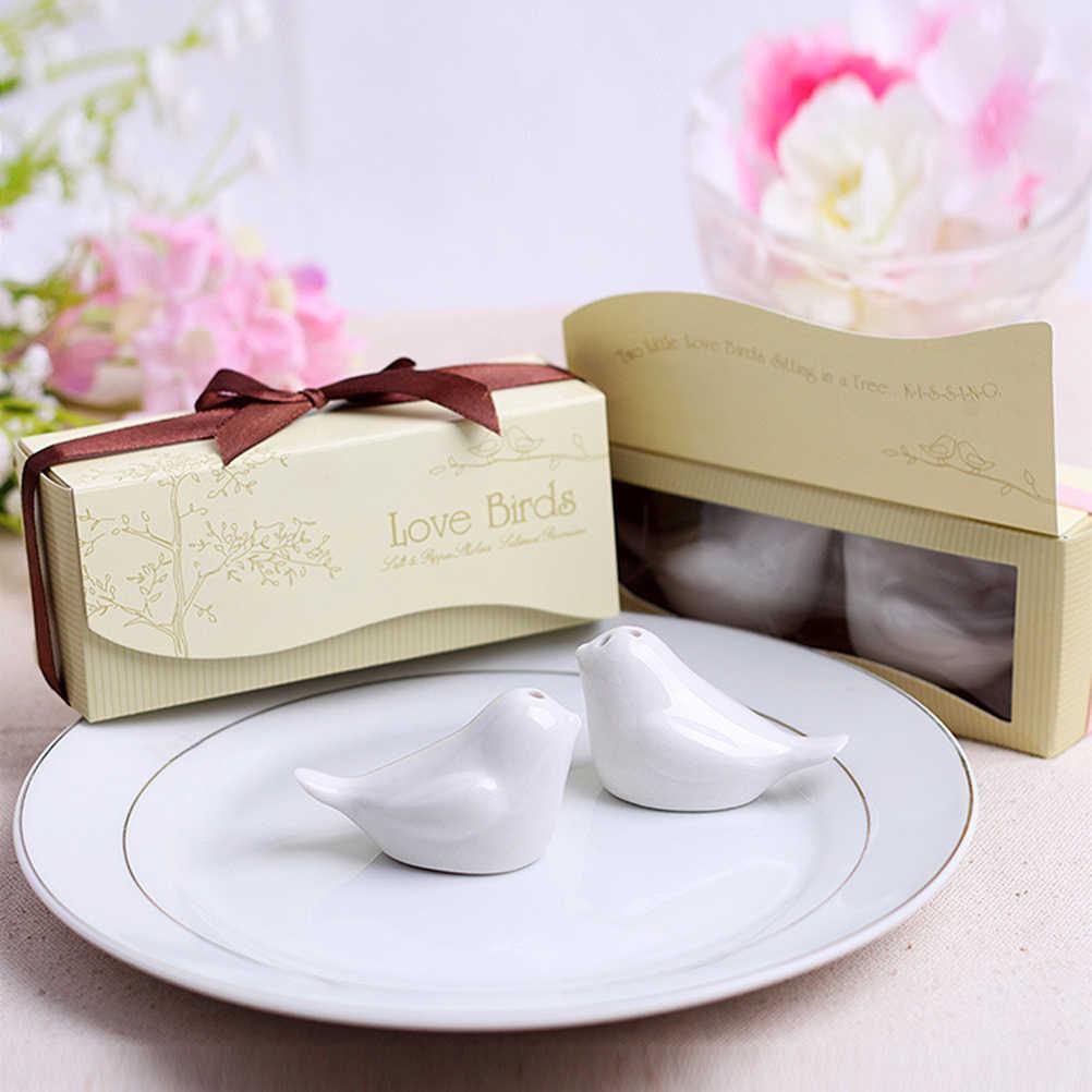 1 סט אהבת ציפור מלח ופלפל שאכר חתונה ומתנות לאורחים מזכרות קישוט אירוע & המפלגה מטבח ספקי