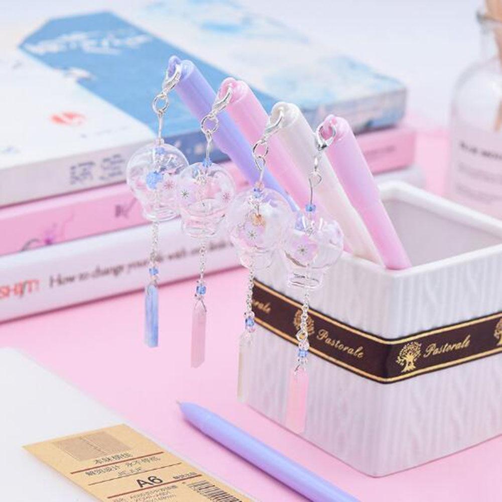 Cat Pen Gift Blue Pink Black 0.5mm Ink Kitten Stationery Pendant Stars Pens UK