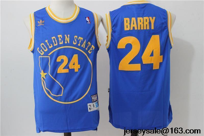 e7dde875a78e8 ... 100 stitched throwback golden state warriors 24 rick barry blue