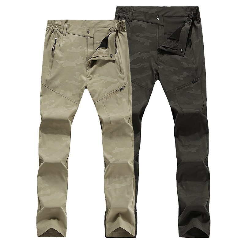Spring autumn <font><b>mens</b></font> thin Quick-drying stretch pants outdoor climbing trekking sport pants Large size hiking camping trousers <font><b>6XL</b></font> image