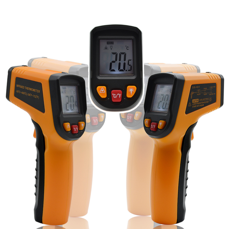 CLUBIONA New Arrival LCD Display Infrared Digital Celsius/Fahrenheit switchable Surface Portable Temperature Thermometer