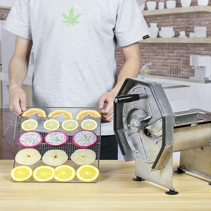 Stainless Steel Commercial Lemon Slicer Manual Fruit Vegetable Potato Tomato Banana Slicing Machine For Tea Shop