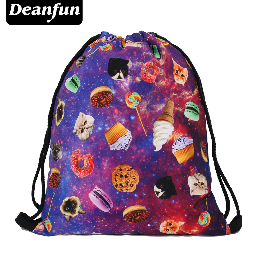 Deanfun 2016 new time limited Daily font b backpack b font unisex space things women font
