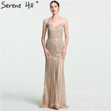 c9a64c6efed312 Lange Kaftan Dubai Arabisch Gouden Crystal Mermaid Formele Avond Prom Party  Gown Dress Abiye Jurken Avondjurken