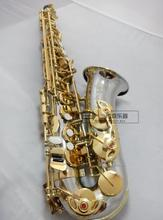 2017 NEW Top Alto Saxophone E Flat Sax Mouthpiece Gold Key Musical Instruments Professional level Playing Saxophone