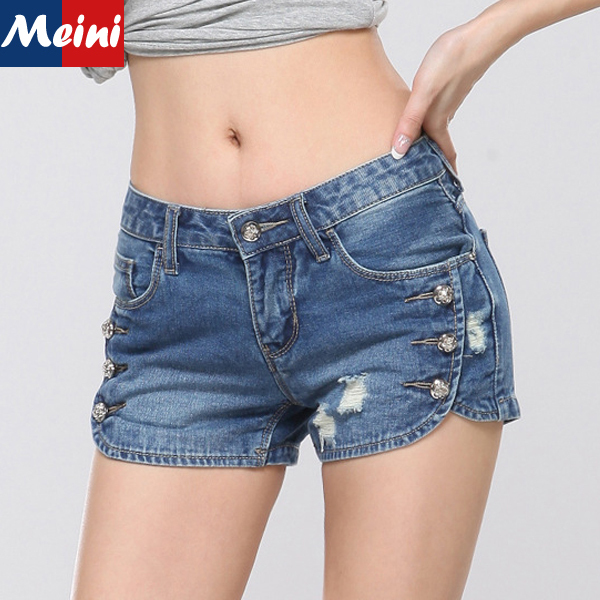 Hot Sale Brand New 2015 Fashion Girls Sexy Hot Pants Female Summer Vintage Shorts Jeans Ripped Tight Denim Short Pants Women In Shorts From Womens