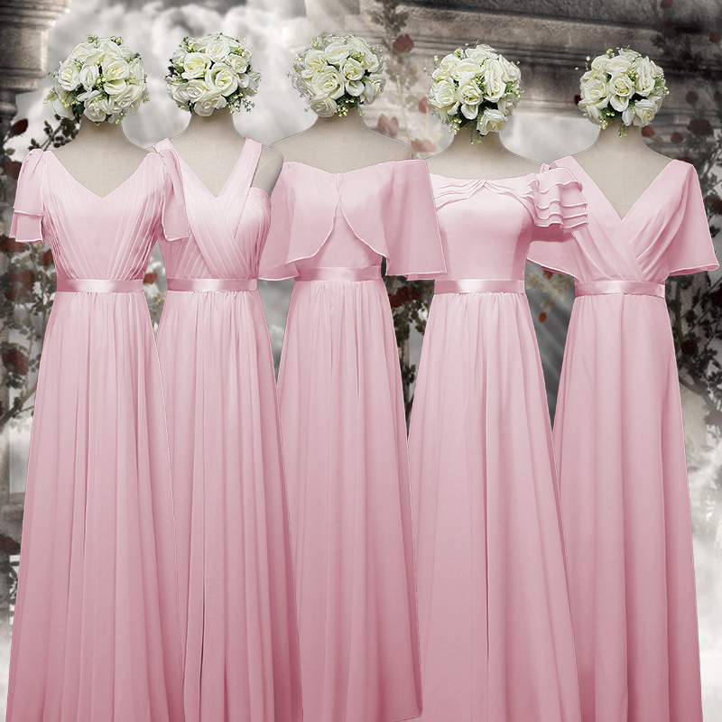Online get cheap gold bridesmaid dresses for Pink and gold wedding dress