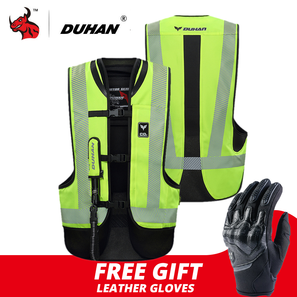 DUHAN Motocross Jacket Motorcycle Air bag Vest Moto Vest Advanced Air Bag System Protective Gear Reflective Motorbike Airbag|Jackets| |  - title=