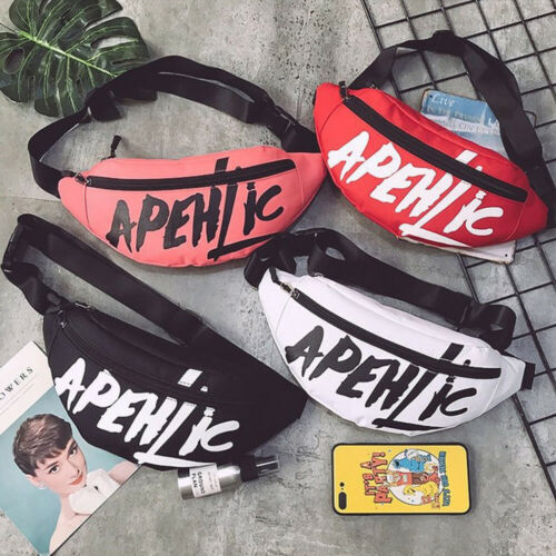 2019 New Men Women Waist Bag Bum Fanny Pack Hip Hop Waist Packs Zip Belt Money Pouch 4 Colors
