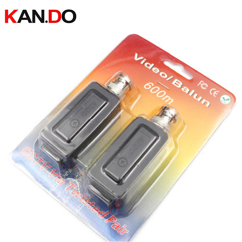 BNC Security Video Balun up to 600m Twisted Video Balun Passive Transceivers CCTV DVR Camera Video Power Balun Transceiver single channel passive video balun grey silver 2 pcs