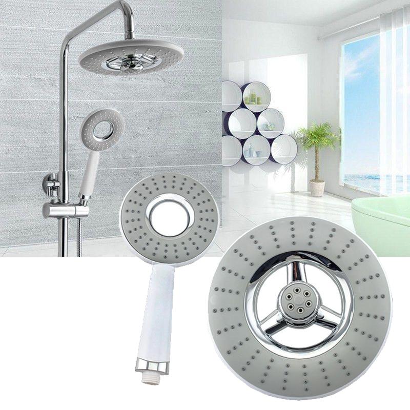 2pcs/set Water Saving Shower Head Top Rain Shower Head + Handheld Sprinkler Rain Sprayer Bathroom Accessories Mayitr rain siemer soovin sulle head