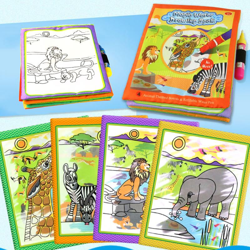 Barn Dyr Maleri Magic Vann Tegning Bok med 2 Vann Pen Barn Doodle - Læring og utdanning - Bilde 4