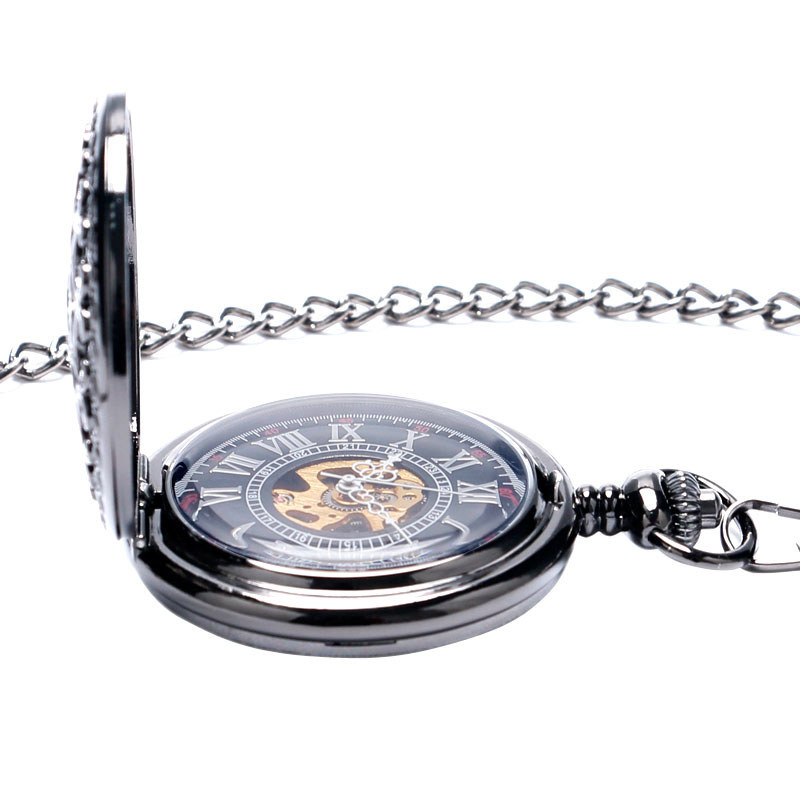 Image 5 - Hollow Semi Automatic Mechanical Pocket Watch Gift Sets for Men Women Necklace Pendant Clock Birthday Presents P825WBWBmechanical pocket watchpocket watchpocket watch set -