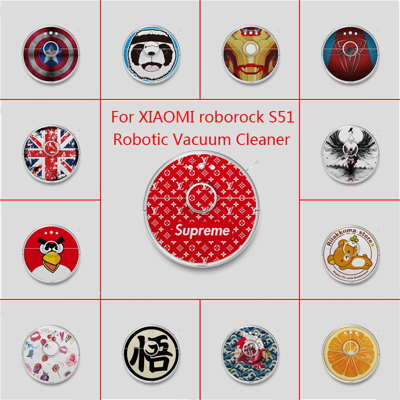 Accept Custom Skin Decal Vinyl Wrap for Xiaomi Robot Cleaner roborock S50 S51 Robotic Sticker Slap Protective Film Free Shipping-in Vacuum Cleaner Parts from Home Appliances