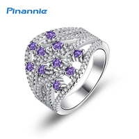 Genuine 925 Sterling Silver Anillos Joyas De Plata 925 Diamond Rings Jewelry For Women