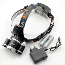 Большая распродажа! 3 * XM-L2 фар фар + 2 * 4200 мАч 18650 + зарядное устройство, 3 xCREE XM-L2 супер T6 из светодиодов USB 6000 Lumens банк