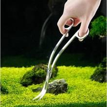 Нержавеющая сталь tijera tesoura инструмент 10 ''Aquotic растительный бак изогнутый аквариум чистая вода трава водоросли клипер волнистые ножницы