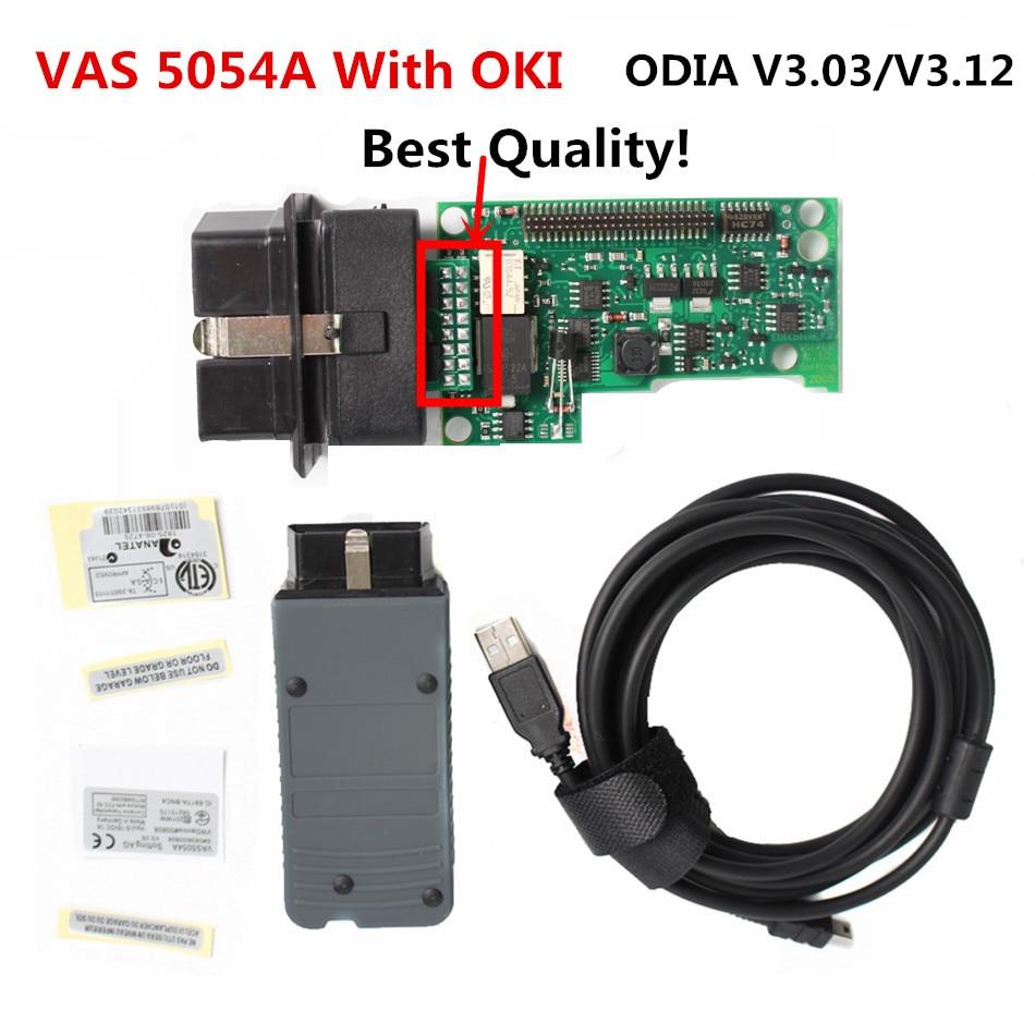 Top quality newest vas 5054a odis 3 03 3 12 bluetooth support uds protocol oki chip diagnostic