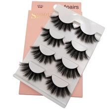 Free Shipping Eyelashes extension 3D Mink lashes handmade volume soft natural long false eyelashes
