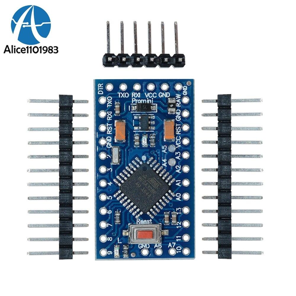10PCS Mega328p Atmega328p 3.3V 8M Auto-reset Module Pro Mini For Arduino Compatible Nano 3.0 USB Connect Board Replace ATmega128