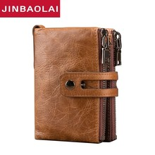 New Arrival Genuine Leather Men Wallet Small Men Walet Hasp Male Portomonee Short Coin Purse Brand Perse Carteira For men wallet jinbaolai genuine leather men wallet small men walet zipper hasp male portomonee short coin purse brand purse carteira for rfid