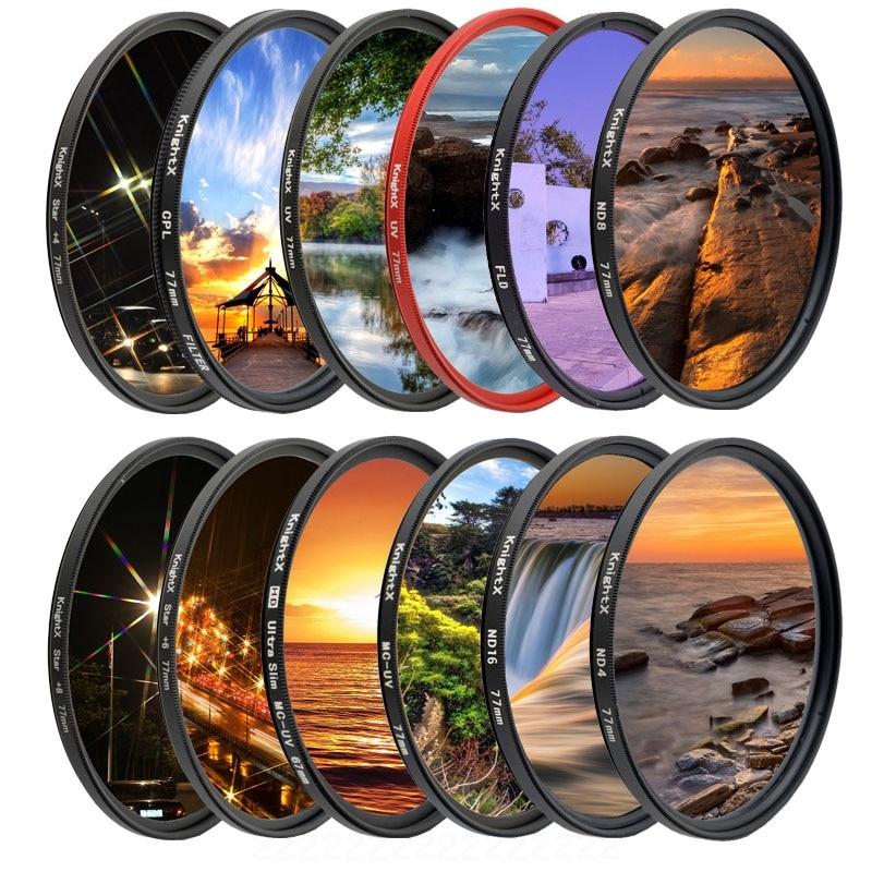 KnightX FLD UV CPL Polarizer ND Star Camera Lens Filter For Canon Sony Nikon 52mm 58mm 67mm Photo D5500 2000d 1200d 60d 50d Set