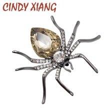 Cindy xiang 3 cores escolher cristal aranha broches para mulher moda arma-preto chapeado inseto broche pino requintado jóias presente