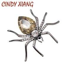 Cindy xiang 3 цвета на выбор хрустальные броши пауки для женщин
