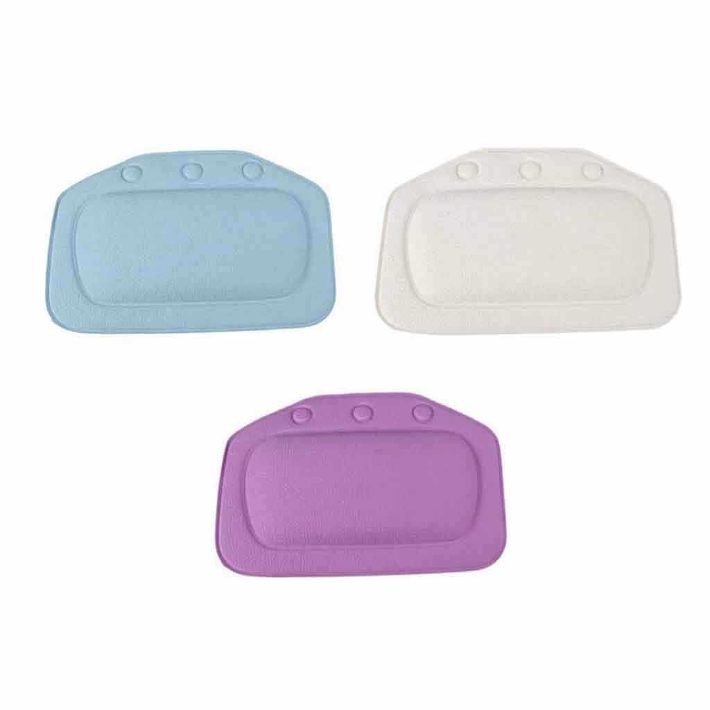 Wygodne SPA poduszka do kąpieli wanna łazienka szyi zagłówek samochodowy miękka podkładka ssania