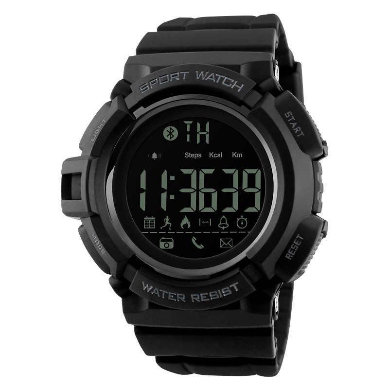 המכר ספורט דיגיטלי שעון כבד עבור גברים כחול אלקטרוני אינטליגנטי bluetooth עלות שעון זכר משלוח צלילה שעוני יד