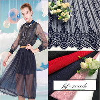 2017 New Eyelash Lace Fabric Sold In Pieces Navy Blue Red Pink Black Off White 5