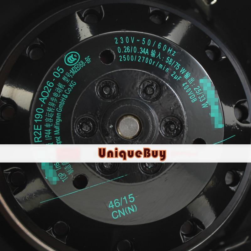 Pour Ebmpapst R2E190-AO26-05 230 V 0.26/0.34A Turbo ventilateur centrifuge
