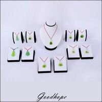 Lot Von 11 Schmuck Ohrring Halskette Display Halter Stehen weiß Kunstleder mit Schwarzen Samt für Zähler Top Fenster fall
