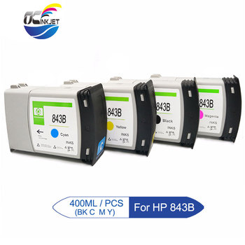 OCINKJET 400ML/Piece For HP 843B Remanufactured Ink Cartridge Compatible For HP Pagewide XL 4000 With High Quality Pigment Ink