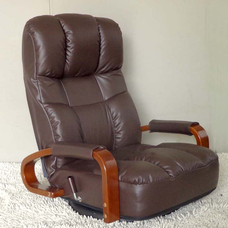 Aliexpress.com  Buy Floor Swivel Recliner Chair 360 Degree Rotation Living Room Furniture Modern Japanese Design Leather ArmChair Chaise Lounge from ... : leather armchair recliner - islam-shia.org