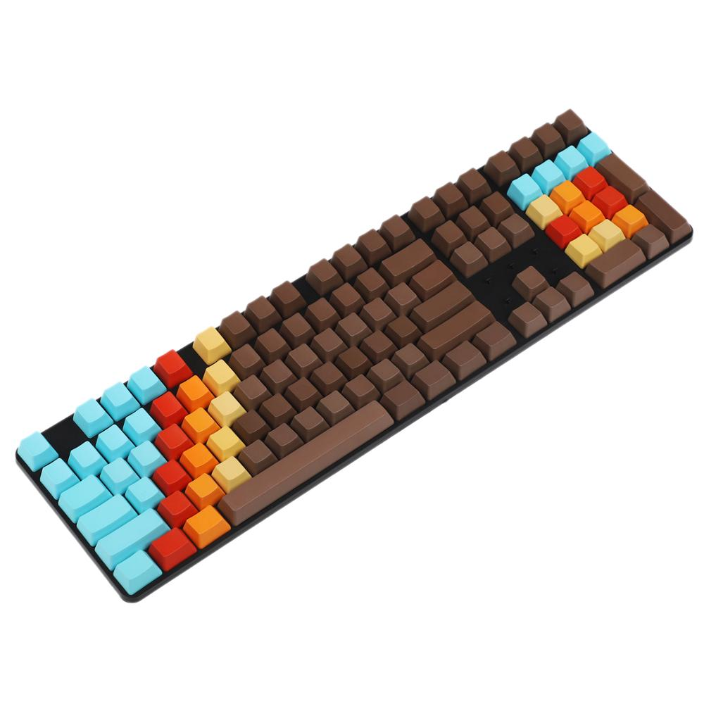 Free shipping ISO ANSI Blank 1976 Mixed Color OEM Profile Thick PBT Dyed Keycaps For MX