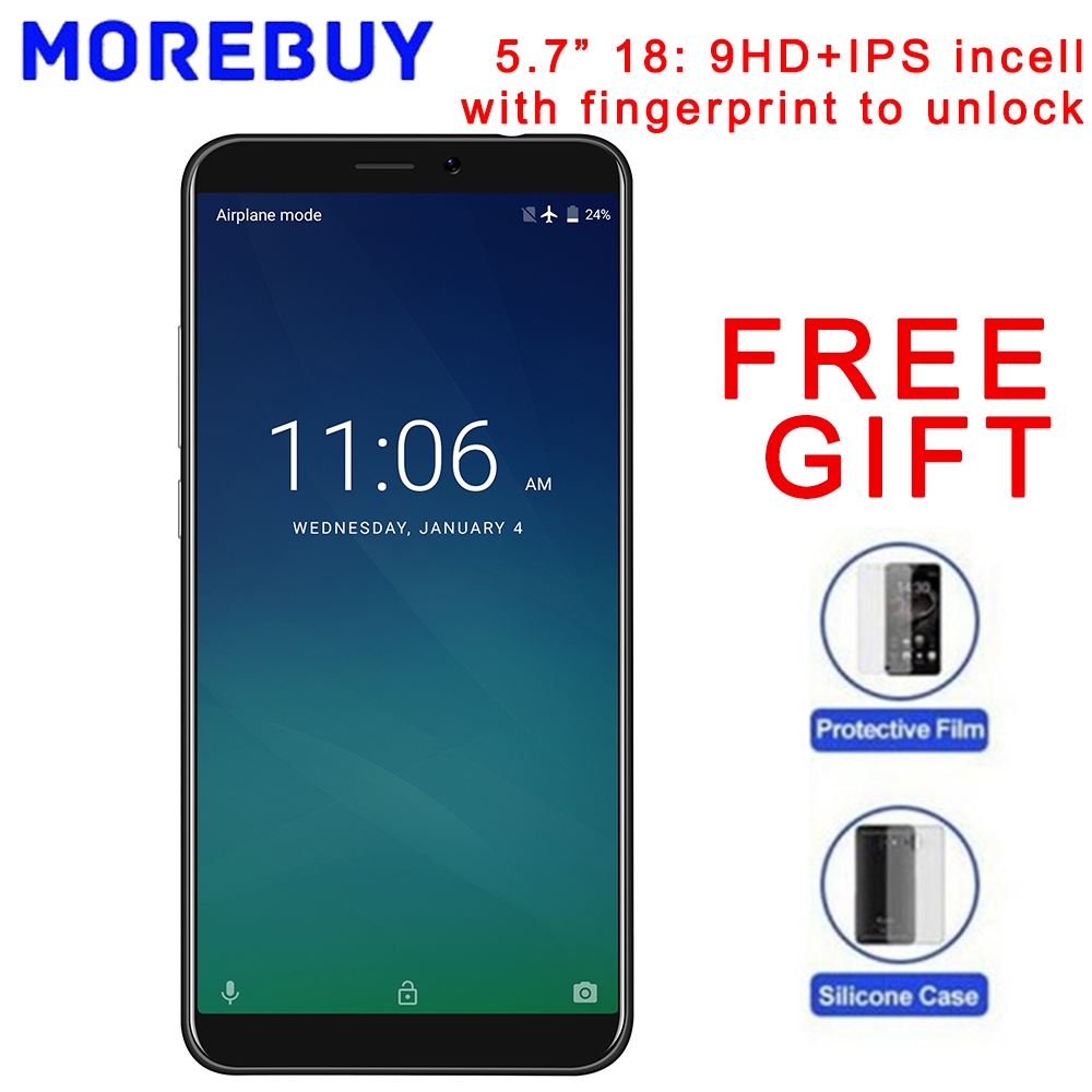 """KEECOO P11 4G MT6737 Quad Core Android 7.0 Smartphone 2GB RAM 16GB ROM Mobile Phone Face ID Fingerprint 5.7"""" 18:9 HD+IPS ince"""