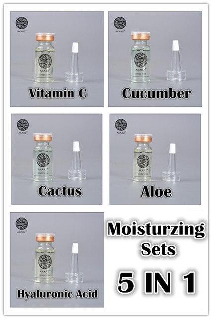 Moisturzing sets AKARZ famous brand 100%  vitamin c cucmber cactus aloe Hyaluronic acid face make up moisturzing 10ml*5