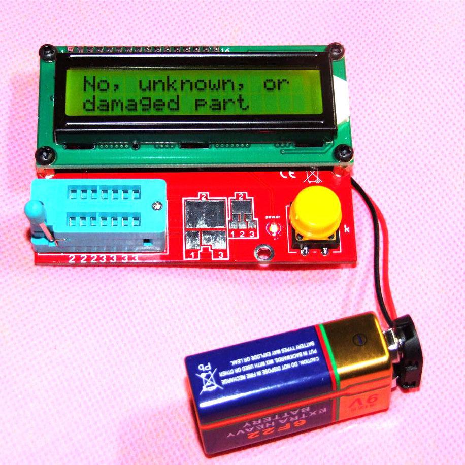 ATmega168 M168 транзистор тест er диодный Триод Емкость ESR ЖК-метр MOS PNP NPN тест