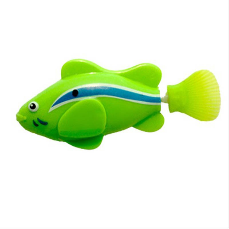 Lovely Baby Fish Toys Water Spraying Squeeze Sounding Debbling Toys ...