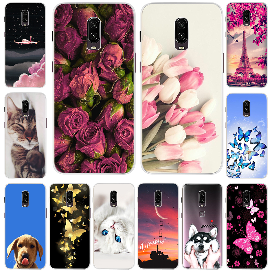 Cute Painted TPU Case For <font><b>OnePlus</b></font> 6T Case One Plus 6t Cover Silicone Soft Phone Funda For <font><b>oneplus</b></font> 6t 6 T <font><b>A6013</b></font> A6010 Coque Cover image